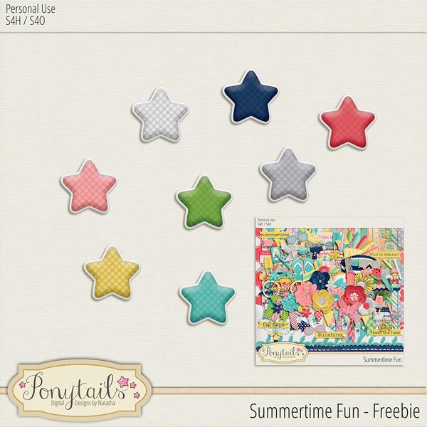 ponytails_SummertimeFun_starfreebie