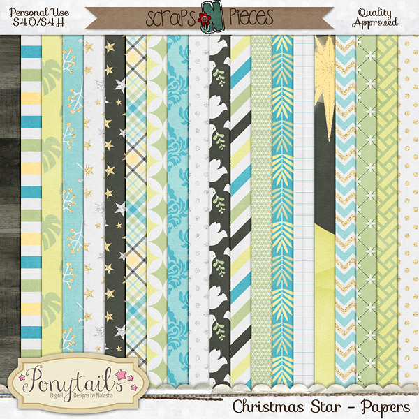 ponytails_ChristmasStar_papers