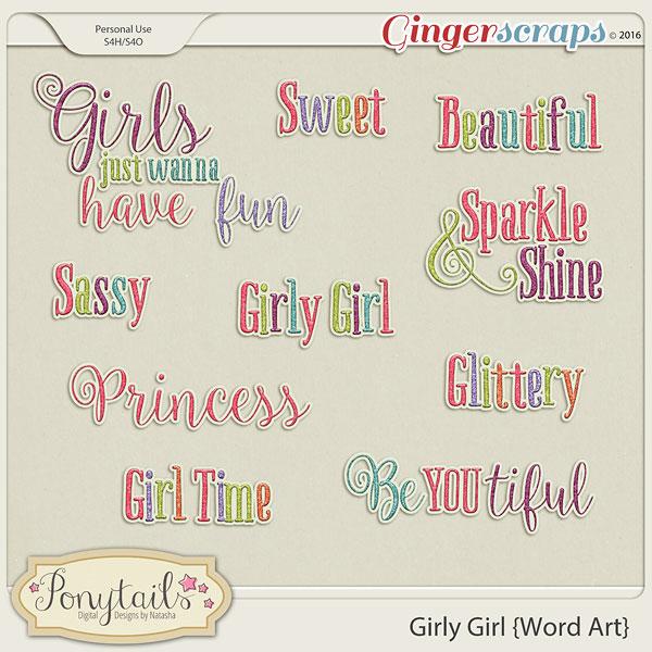 ponytails_GirlyGirl_wordart