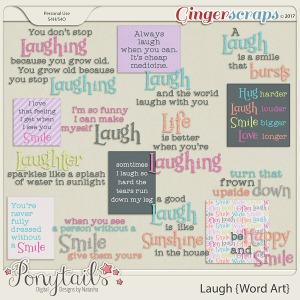 ponytails_laugh_wordart