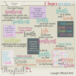 ponytails_laugh_wordart